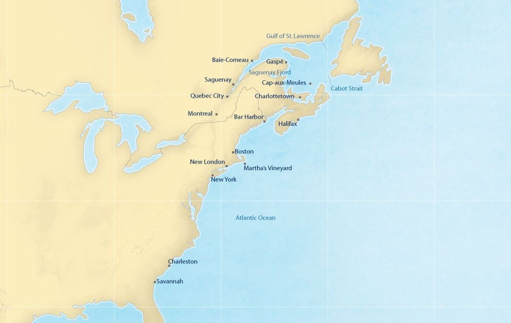 Map showing all the ports in