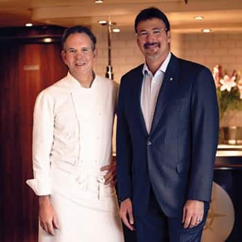 Chef Thomas Keller and Seabourn President Rick Meadows