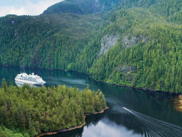 A Seabourn Ship  on an Alaska Luxury Cruise