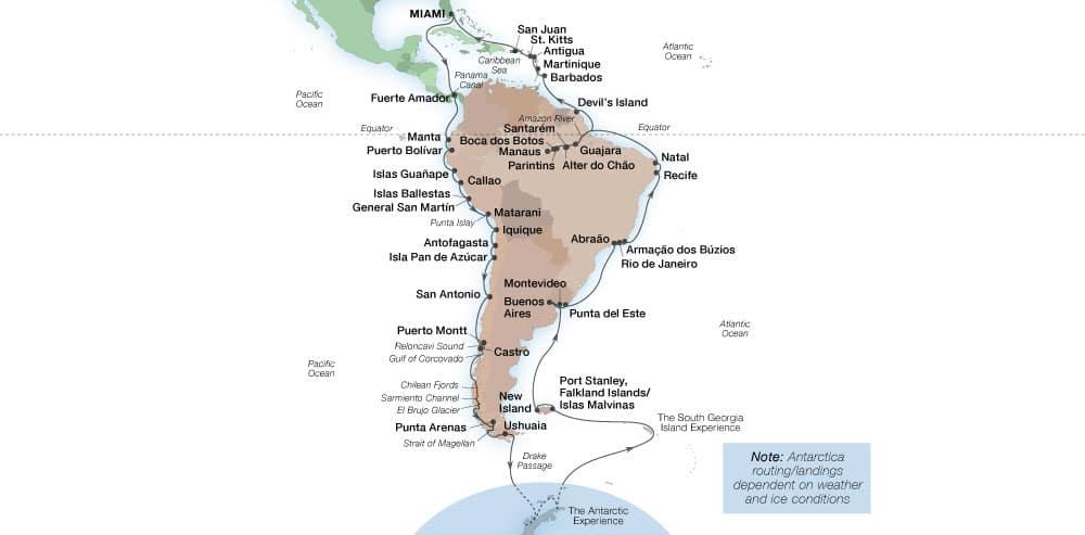 Grand Voyage voyage map