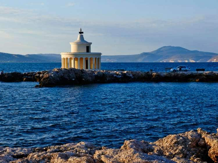 Greece, Ionian Islands, Mediterranean sea, Cephalonia Island, Kefalonia, Argostolion, Saint Theodoron Lighthouse