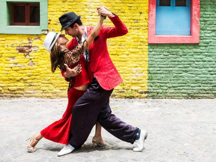 Picture of a couple dancing in Buenos Aires, Argentina while on a Seabourn luxury South America cruise