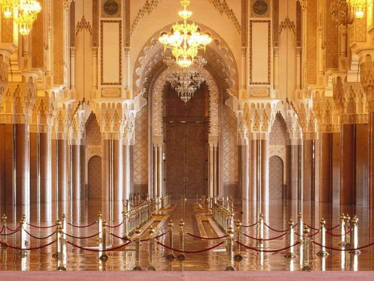Morocco, Casablanca, Mosque Hassan II, interior.