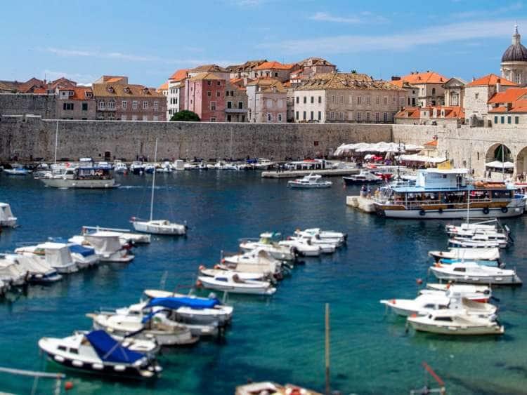Croatia, Dalmatia, Dubrovnik, Harbor