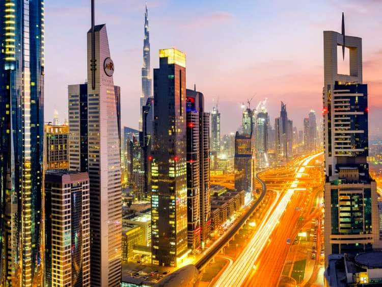 High Rises on Sheikh Zayed Road, Downtown Dubai, Emirate of Dubai, UAE