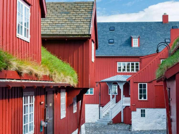 Denmark, Faroe Islands, Streymoy, Torshavn, The historical district of Tinganes