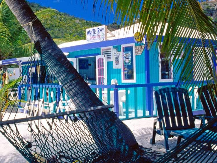 Beach Bar on White Bay, Island Jost van Dyke, British Virgin Islands, Caribbean
