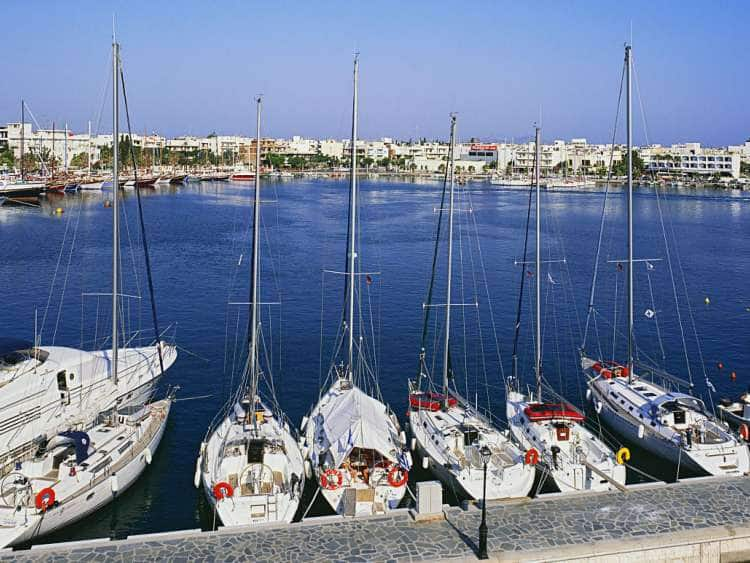 Greece, Aegean islands, Dodecanese, Kos island, Mediterranean sea, Harbour for sailing ships