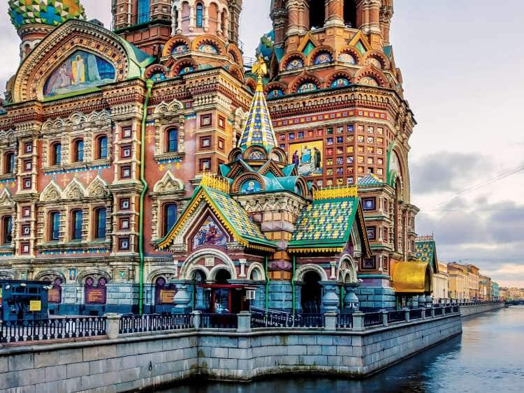 "The Church of the Savior on Spilled Blood (Russian:    , Tserkov Spasa na Krovi) is one of the main sights of St. Petersburg, Russia. Other names include the Church on Spilled Blood (Russian:   , Tserkov""u2019 na Krovi), the Temple of the Savior on Spilled Blood (Russian:    , Khram Spasa na Krovi), and the Cathedral of the Resurrection of Christ (Russian:   , Sobor Voskreseniya Khristova).""n""nThis Church was built on the site where Emperor Alexander II was fatally wounded in March 1881.The church was built between 1883 and 1907. The construction was funded by the imperial family."