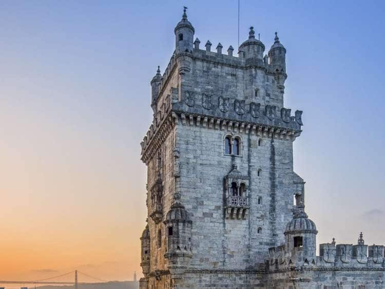 Torre de Belem Tower on the Mouth of Tagus River in the Urband District of Belem, Lisbon, Estremadura, Portugal
