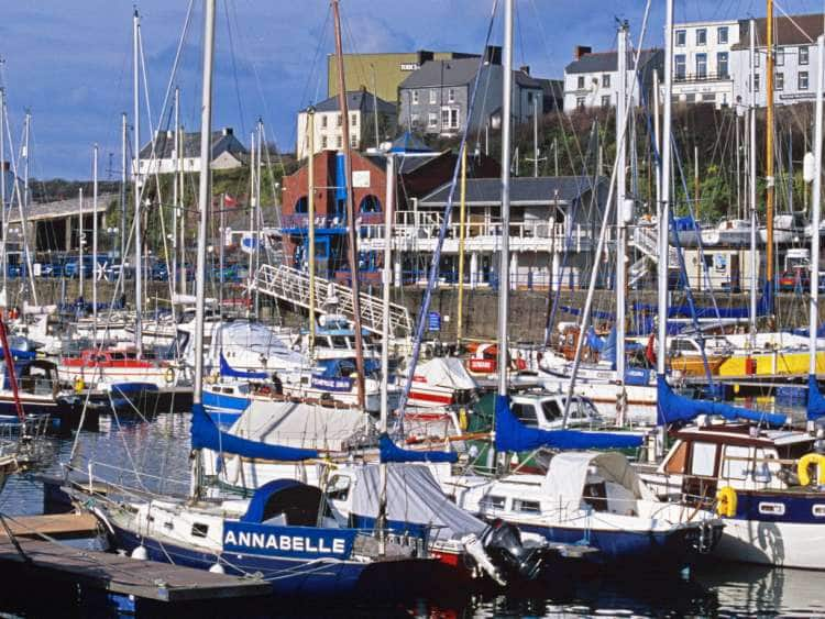 Wales, Pembrokeshire, Dyfed, Milford Haven, Marina in the forth largest port in the UK