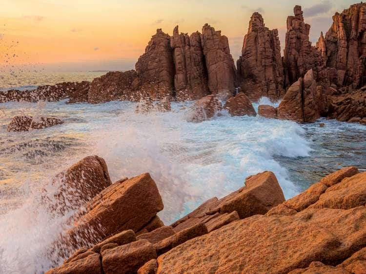 The Pinnacles rock is spectacular scenery of rock formations carved by wind and waves. Cape Woolamai, Phillip Island's highest point and one of Victoria's most popular surfing beaches.