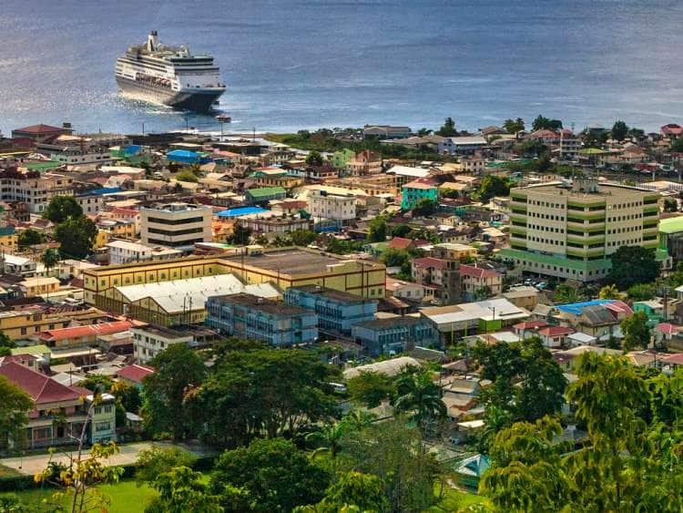 Dominica, Roseau, Cityscape.
