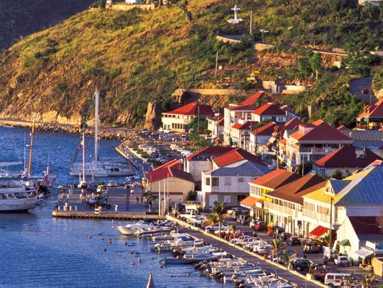 Saint Barthelemy, Gustavia, Sailboats at Harbor.