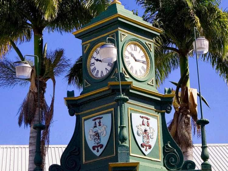 Federation of Saint Kitts and Nevis, Saint Kitts, Basseterre, The Circus, Berkeley Memorial Clock Tower.