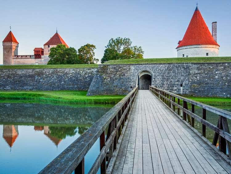 Episcopal Castle in Kuressaare, Island of Saaremaa, Estonia