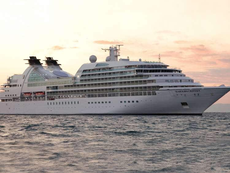 The Seabourn Odyssey out on a small ship cruise