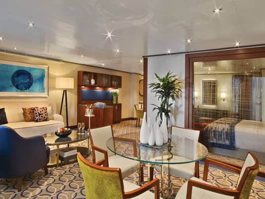Owner's Suite on the small-ship, ultra-luxury Seabourn Encore