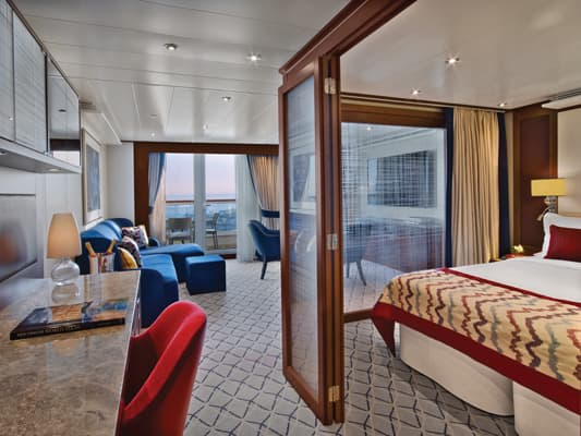Penthouse Suite on the small-ship, ultra-luxury Seabourn Encore