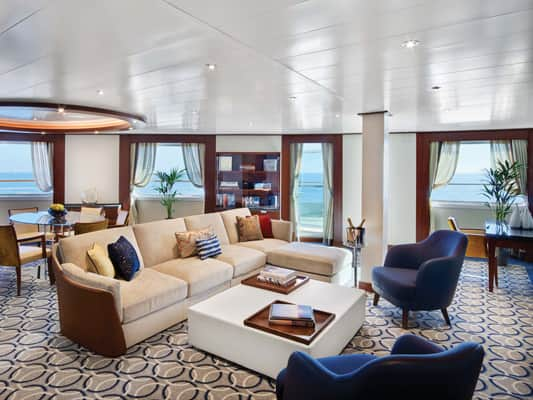 Signature Suite on the small-ship, ultra-luxury Seabourn Encore