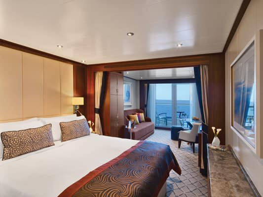 Veranda Suite on the small-ship, ultra-luxury Seabourn Encore