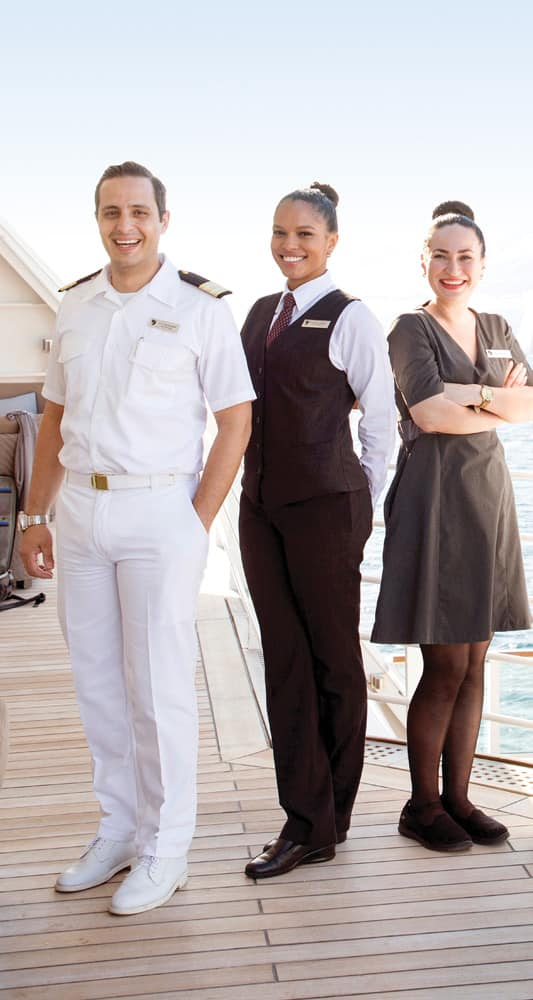 Seabourn Crew on Deck