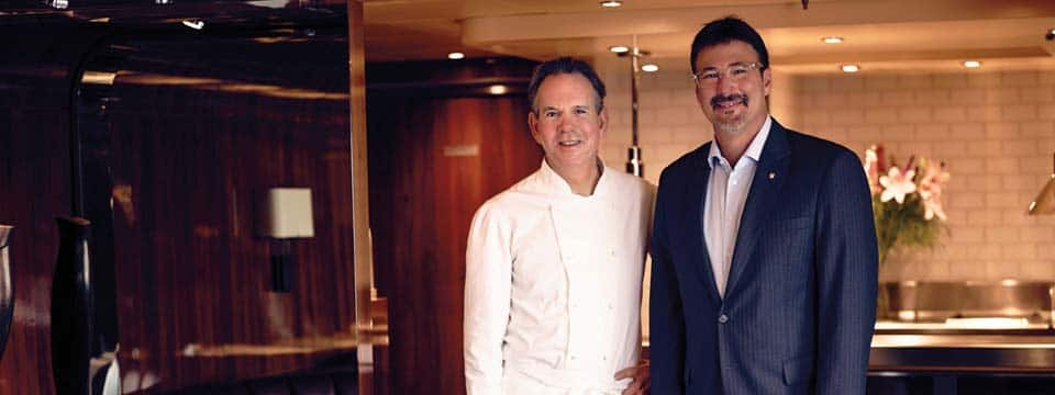 Chef Thomas Keller and Seabourn President, Rick Meadows
