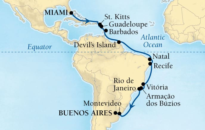 24-DAY CARIBBEAN & BRAZILIAN EXPLORATION
