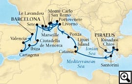 20-day mediterranean waterways