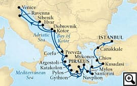 21-day adriatic, ionian and aegean isles