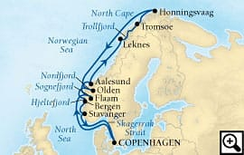 14-day majestic fjords and    north cape