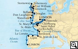 27-day british isles & atlantic harbors