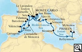 20-day rivieras, spain and rome