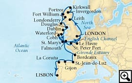 29-day british isles and atlantic harbors