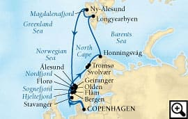 21-day route of the midnight sun