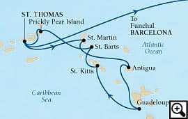 20-day caribbean and passage to spain