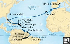 29-day amazon & atlantic passage