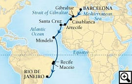 18-day route of magellan
