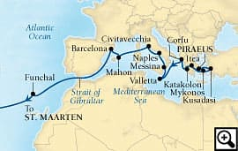 27-day mediterranean and transatlantic