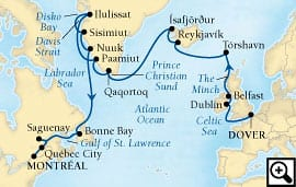 24-day route of the vikings