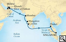 16-day pearls of arabia and   india
