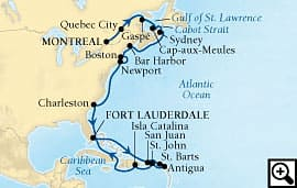 24-day atlantic harbors and caribbean charms