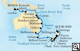 34-day grand south pacific holiday