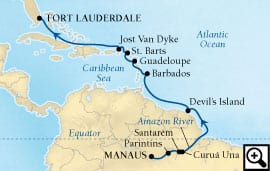 15-day amazon and caribbean isles