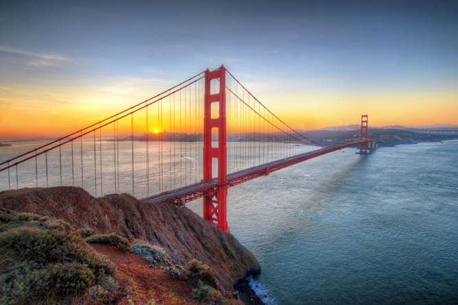 Golden Gate Bridge in San Francisco -- Ultra-Luxury Cruises Seabourn