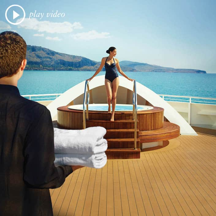 "Experience Seabourn's ""Exemplary"" Service  -- The Seabourn Difference"